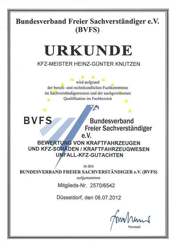 Zertifikate   SVB Knutzen